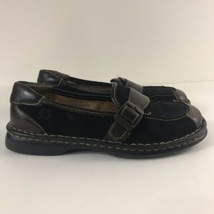 Born Women's Brown Black Slip On Loafers Size 7